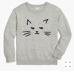 Crewcuts girls kitty love sweater